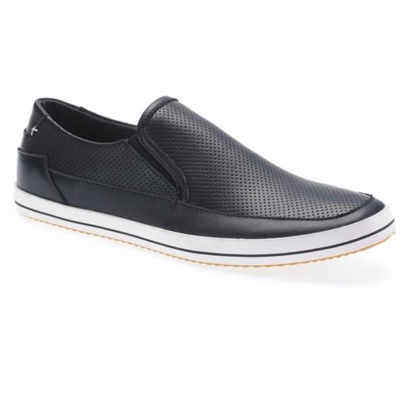 Steve Madden Black Weldon Perfed Men's Loafers